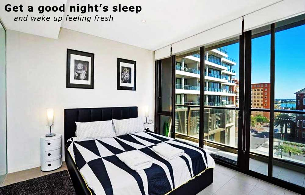 Newcastle-Apartments-Serviced-Apartment-Bedroom